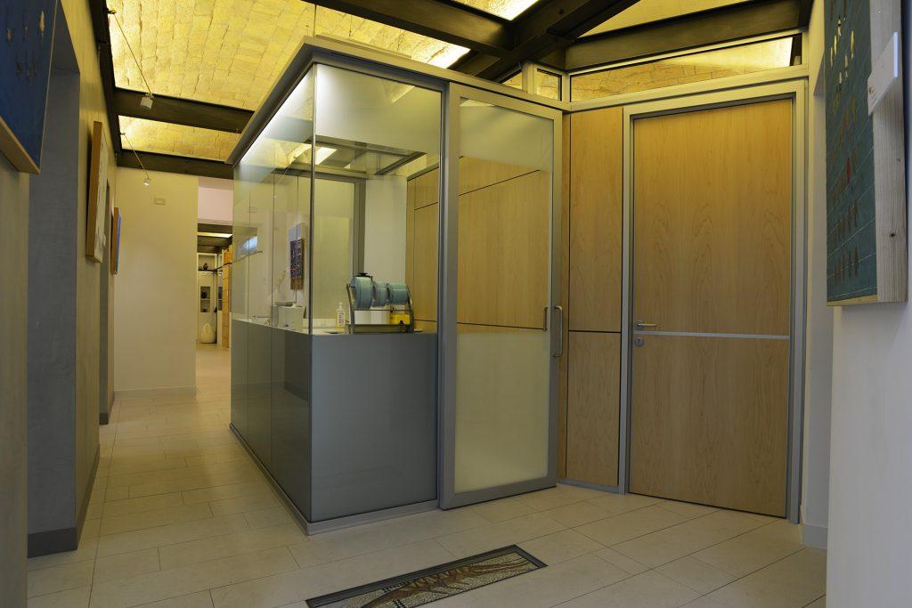 La sala per la sterilizzazione